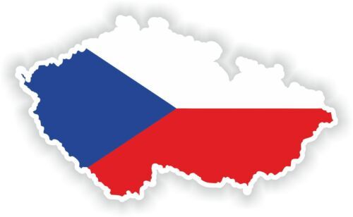 Czech Republic Map Flag sticker Silhouette Bumper Scooter Skateboard Laptop