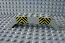 LEGO Light Gray Slope 45 10 x 2 x 2 Double with Black and Yellow Danger Stripes