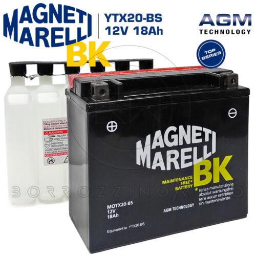 BATTERIA MAGNETI MARELLI YTX20-BS 18Ah HARLEY DAVIDSON FXR SUPER GLIDE 1340 1988
