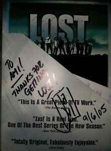 LOST-SIGNED-amp-Inscribed-DVD-SEASON-1-J-J-ABRAMS-VG-7-disc-set-free-shipping