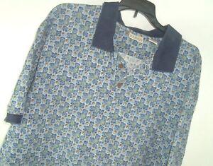 LL-Bean-Palm-Tree-Hawaiian-Polo-Shirt-men-039-s-XL-camp-cruise-hipster-Vtg