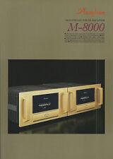Accuphase m-8000 Catalogo Prospetto Catalogue datasheet brochure