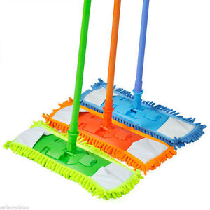 2-x-Extendable-Microfibre-Floor-Mop-Cleaner-Sweeper-Wooden-Laminate-Tile-Wet-Dry