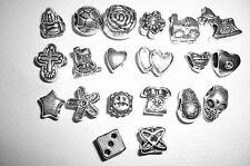 10 European Bead MIX Großloch Perlen HERZ Tibet Silber für Armband Advent NEU