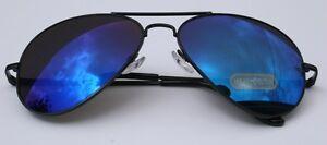 MEN-400UV-AVIATOR-MIRROR-BLUE-SUNGLASSES-shades-BLACK