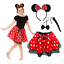 Ladies-MINNIE-MOUSE-Style-Costume-Fancy-Dress-12-034-length-SKIRT-AND-EAR-SET thumbnail 1