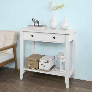 SoBuy®Mesa auxiliar,consola mesa,escritorio blanco,carro de cocina ...