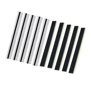 10PCS-Male-amp-Female-40pin-2-54mm-Header-Socket-Row-Strip-PCB-Connector-Cool