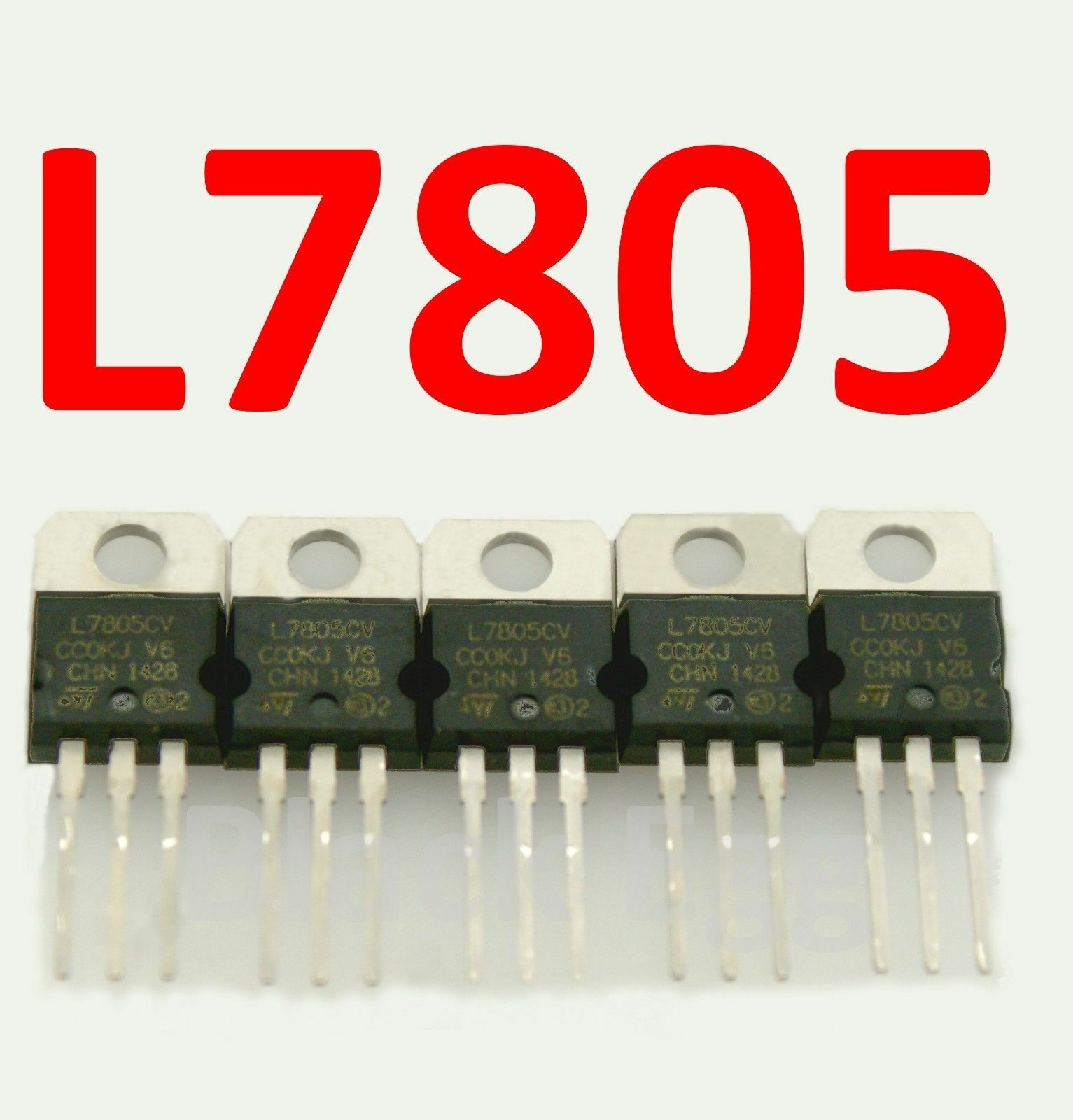 10Pcs IC L7805CV L7805 TO-220 5V Voltage Regulator Po Jf
