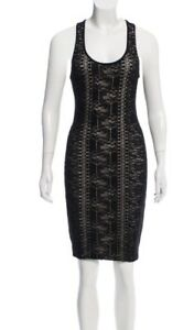 Rare-AUTH-Givenchy-Black-Lace-Bodycon-Dress-Size-Small