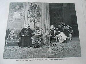 Gravure 1876 - L'antichambre De Monseigneur D'après Vibert