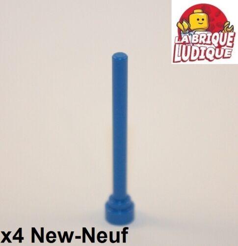 4x Antenne bout plat Antenna flat top 1x4 bleu//blue 3957b NEUF Lego