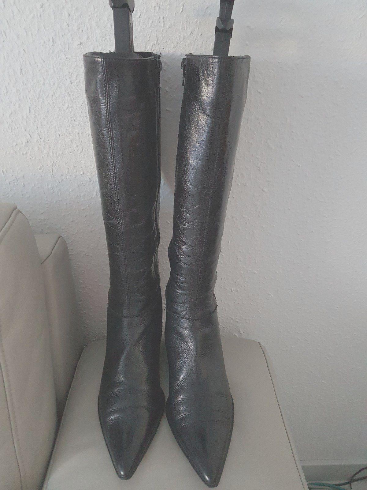 Helén Billkrantz, Stiefel, schwarz Leder Gr.37