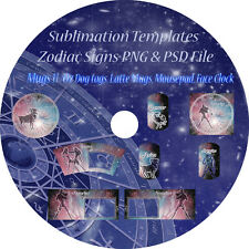 Sublimation template Pack, Mugs, Clock, Mousepad, Dog Tags, Zodiac Signs Theme