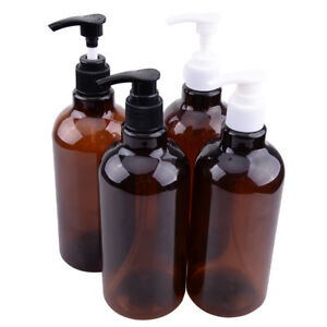 2pcs-500ml-Empty-Plastic-Pump-Bottles-Water-Lotion-Shampoo-Liquid-Containers