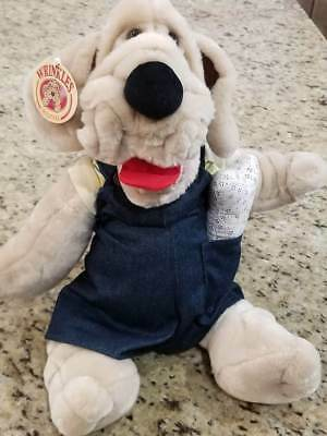 NWT Original Male Wrinkles Puppet~Outfit~Bone~Ear Tag~Serial Number~Ganz Bros.