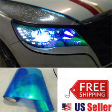 "12""x72"" Chameleon Neo Blue Color Headlamp Taillamp Foglamp Tint Film Wrap Roll"