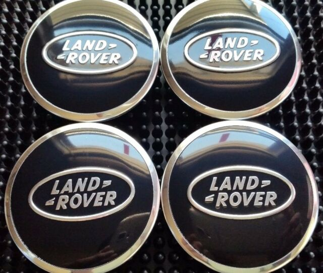 4x 63mm LAND ROVER ALLOY WHEEL CENTRE HUB CAPS FOR LR2 LR3 LR4 DISCOVERY BLACK