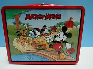 1996 RETRO MICKEY MOUSE SERIES 1 TIN LUNCH BOX - MICKEY & FRIENDS - NEW COND.