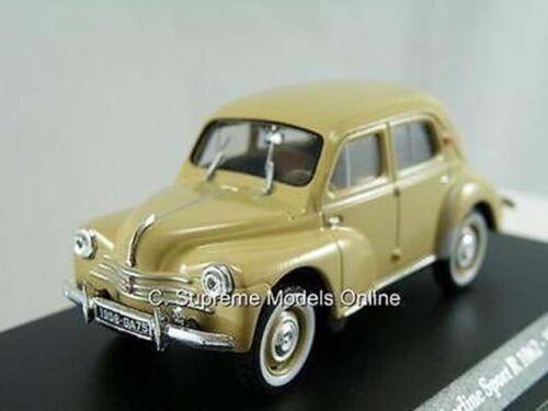 4CV Renault BERLINE SPORT 1958 Coche Modelo 1//43RD escala Crema problema PKD K8967Q//=//
