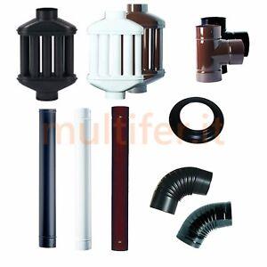 Tubi-per-stufa-e-diffusori-di-calore-nero-opaco-e-marrone-diametri-vari