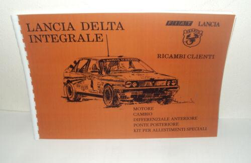 Manuale Catalogo ricambi Abarth Lancia Delta Integrale Spare parts catalog
