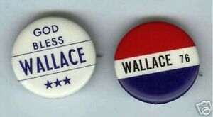 1-vintage-GEORGE-WALLACE-third-party-pin-RWB-ONLY-ONE-pinback