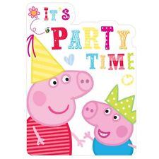 peppa pig childrens kids girls boys birthday party invitations