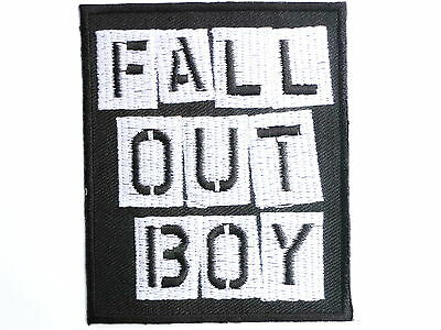 FALL OUT BOY Logo Iron On Sew On Rock Emo Embroidered Patch 3""