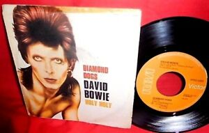 DAVID-BOWIE-Diamond-dogs-Holy-holy-7-034-45rpm-PS-1974-ITALY-EX