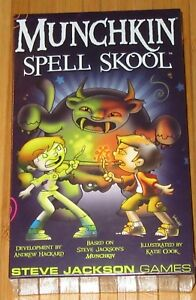 New-Munchkin-Spell-Skool-Jackson-Adventure-Board-Game-Ages-10-Sealed