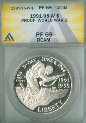 1991-95-W One Dollar World War 2 PCGS; PR 69 DCAM