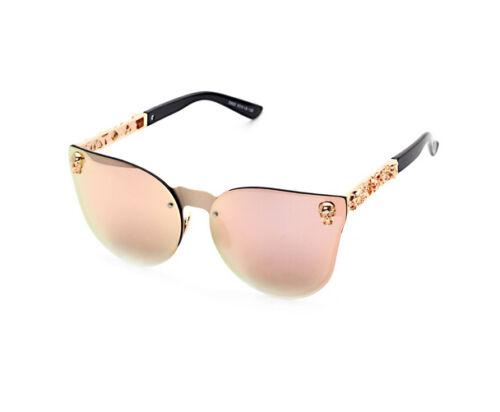 New Fashion Women Gothic Sunglasses Men Skull Frame Metal Temple Sunglasses