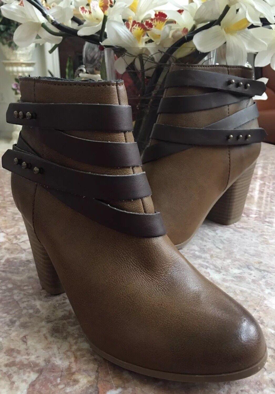 Nuevo Material Girl Mini Mini Mini al tobillo Botines para mujer de cuero grueso talla 9.5M ID 42172  mejor marca