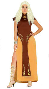 LADIES-GAME-OF-THRONES-COSTUME-FANCY-DRESS-MEDIEVAL-QUEEN-VIKING-OUTFIT-10-12