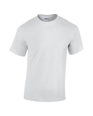 Accurato Plain Nero Bianco Gildan Maglietta Top Tees Magliette Cotone Pesante Manica Corta Nuova-mostra Il Titolo Originale