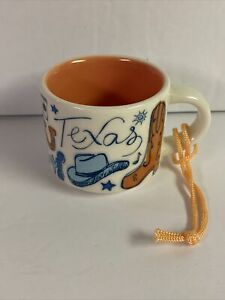 NEW! Starbucks Texas Been There Series Collection Mini Coffee Cup Mug Ornament