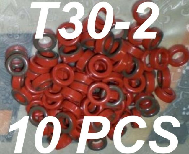 T30-2 MICROMETALS TOROID  /250 KHz - 10 MHz/ -LOT of 10pcs