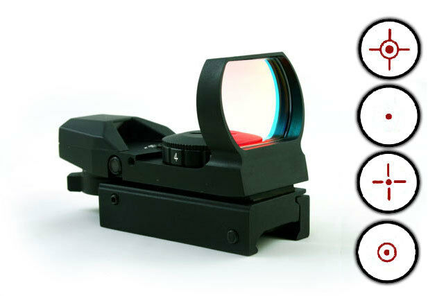 Tactical 4 Multi Reticle Reflex Red Dot Sight Picatinny Weaver Rail (SC-0015A)
