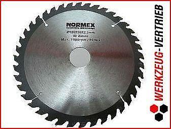 Normex 03-404  HM Kreissägeblatt 190mm// 40Z Hartmetall