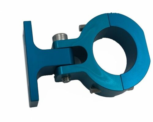 Blue higher performance universal motor mount for gas motorized bicycle kit