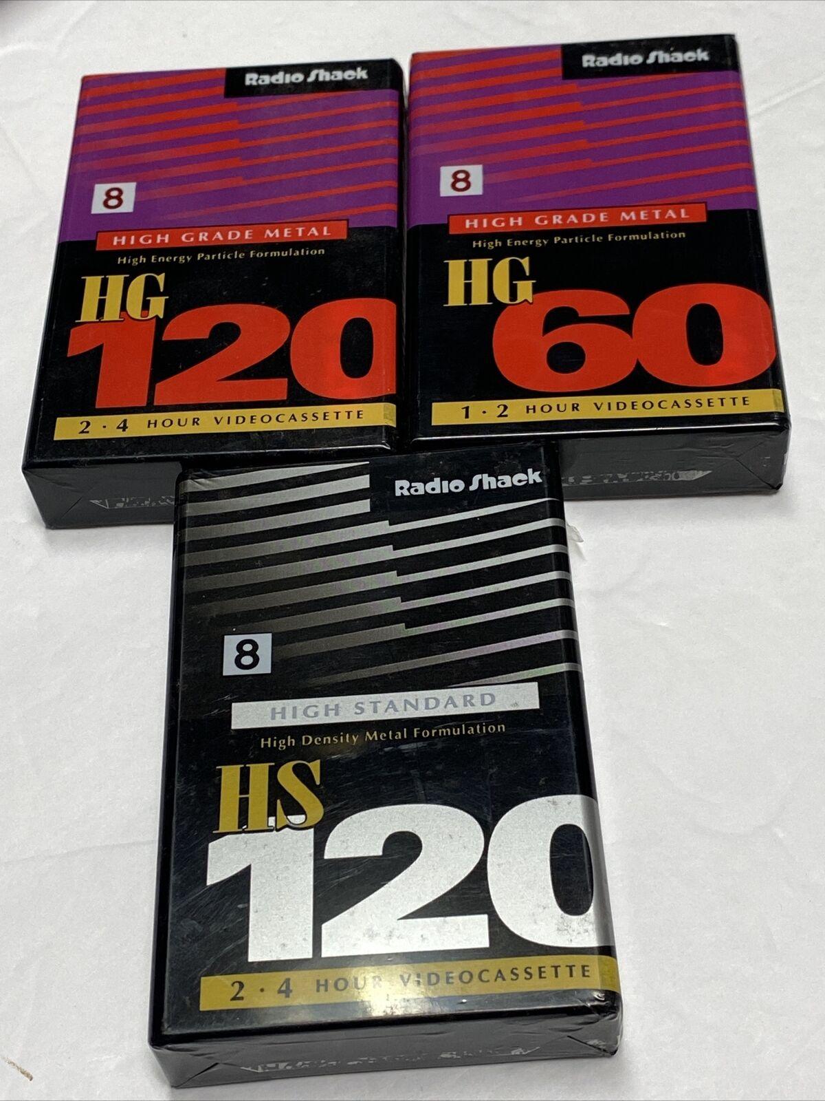LOT of 3, RadioShack NTS8 8mm Professional Quality Camcorder Video Tape HG Metal