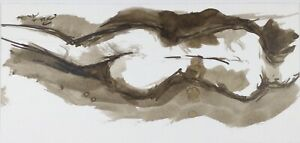 SEPIA-INK-NUDE-ORIGINAL-SIGNED-ABSTRACT-MODERN-ARTWORK-WATERCOLOUR-IDEAL-GIFT