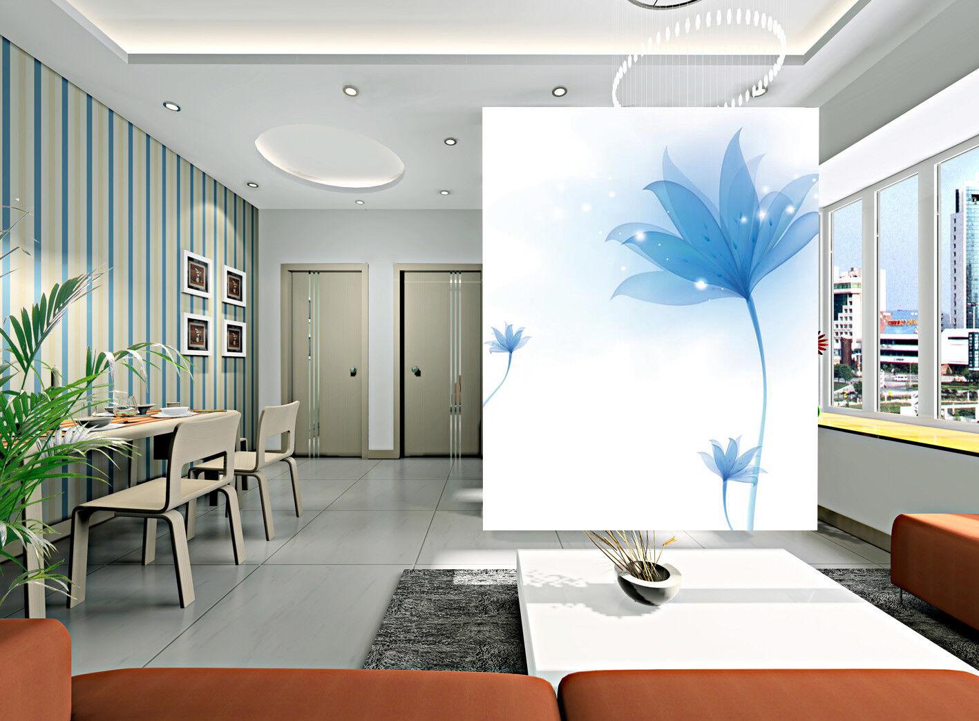 3D blue bluemen Muster 878 Tapete Wandgemälde Tapete Tapeten Bild Familie DE Kyra
