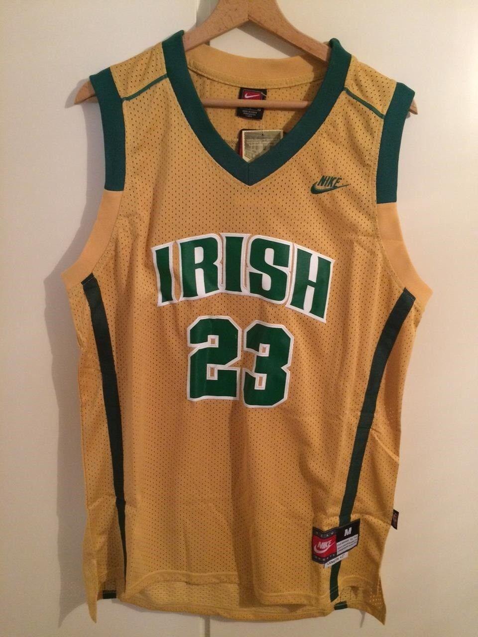 Maglia canotta NBA basket Lebron James Jersey Irish High School New S,M,L,XL,XXL