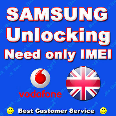 Samsung Official Unlock Code Galaxy Ace, Ace 2 S2, S3, Mini J5 Vodafone UK Only