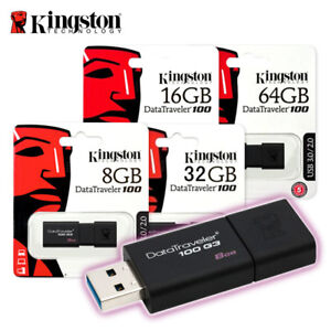Kingston-DT100G3-8GB-16GB-32GB-64GB-Data-Traveler-100-G3-USB-3-0-Flash-Pen-Drive