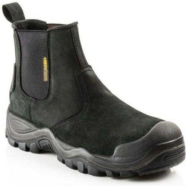 Buckler BSH006BK Seguridad De Distribuidor botas De Trabajo Negro (Tallas 6-12) Para Hombre Puntera De Acero
