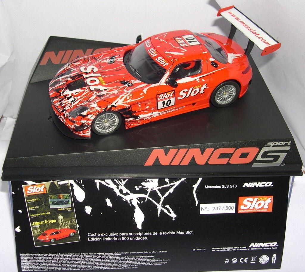 NINCO 91019 MERCEDES SLS GT3 PLUS SLOT 500 UNITS LTED.ED. MB