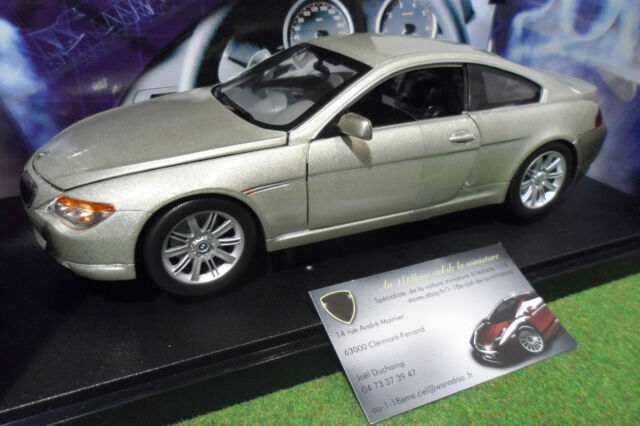 BMW 645CI gris à l'échelle 1/18 HOT WHEELS B3243 voiture miniature de collection
